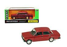 Колекційна іграшкова машина Жигулі ВАЗ 2107, інерційна (Червоний)