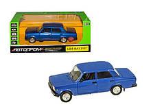 Колекційна іграшкова машина Жигулі ВАЗ 2107, інерційна (Блакитний)