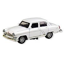 Колекційна іграшкова машина ГАЗ 21 7504, інерційна (Білий)