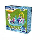 Дитячий ігровий надувний центр BW 53097 з гіркою, фото 2