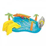 Дитячий надувний басейн Морська життя BW 53067 з тваринами, фото 3