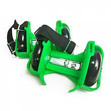Ролики на п'яту RS-0029 світяться колеса (Green)