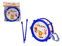 Барабан дитячий 166-20 з паличками (Синій)