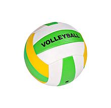 Мяч волейбольный BT-VB-0020 PVC разноцветный (Зелено-жёлтый)
