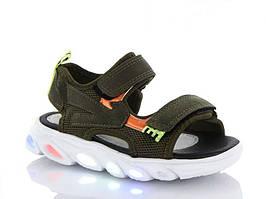 Босоніжки, сандалі з мигалками з LED підсвічуванням. Розміри 28, 29, 31, 32.