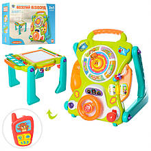 Дитячий ігровий центр з дошкою для малювання 2107 каталка-ходунки