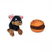 """М'яка іграшка """"Солодкий щеня"""" 20021 в контейнері (Пончик з шок. крихтою)"""