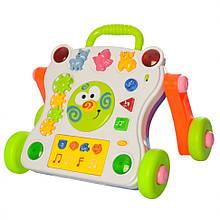 Дитяча каталка-ходунки 668-50-58 З музикою і світловими ефектами (Білий)
