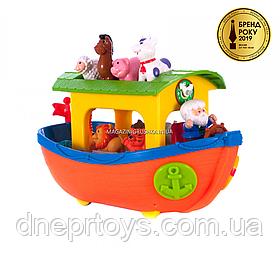 Игровой набор Kiddieland «Ноев ковчег» каталка-сортер, 12 стишков, песенка, легенда Ноя, чудо-пианино, звуки