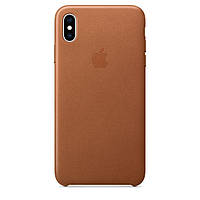 Чехол Apple Leather Case для iPhone XS Max Brown, КОД: 324216