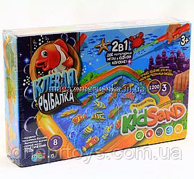 Кінетичний пісок для дітей 2 в 1 «Кльова рибалка» KRKS-01-01