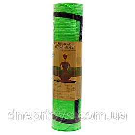 Килимок для йоги та фітнесу Shantou Салатовий йогамат 180х61х0,7 см (MS 2129)