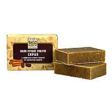 Натуральное мыло Flora Secret Скраб с корицей и кофе 75 г Коричневый F39, КОД: 1536429