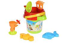 Набор для игры с песком Same Toy ведерко зеленое 969Ut-2, КОД: 2433509