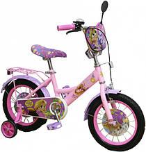 Двухколесный велосипед Disney Рапунцель Розовый PR191411, КОД: 2432623