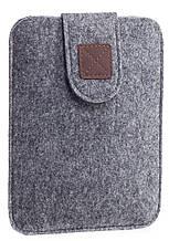 Чехол войлочный на липучке Gmakin для Amazon Kindle Paperwhite Светло-серый GK03, КОД: 145064