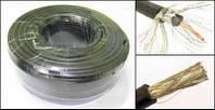Коаксиальный кабель RG-58 50Ом (96 жил, 0.813 Copper + PE + Al.foil + 0.12x96 tinned copper + PVC)