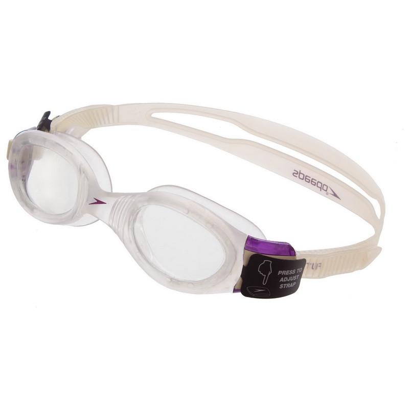 Очки для плавания женские SPEEDO FUTURA BIOFUSE 8080357239, Бело-фиолетовый