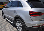 Боковые пороги Allmond (2 шт., алюминий) для Audi Q3 2011-2019 гг.