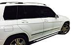 Mercedes GLK klass X204 Бічні пороги Allmond Grey (2 шт, алюміній)