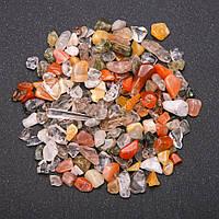 Фурнитура каменная крошка без отверстия Ассорти (+-)7мм 100 грамм