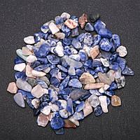 Фурнитура каменная крошка без отверстия Содалит (+-)7мм 100 грамм
