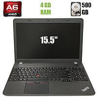 """Ноутбук Lenovo Think Pad E555 / 15.5""""TN / AMD A6-7000 2 ядра 2.2-3.0 GHz / 4GB DDR3 / 500GB HD Webcam"""