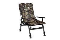 Кресло карповое складное Elektrostatyk F5R плоские ручки Камуфляж (клен-дубок)