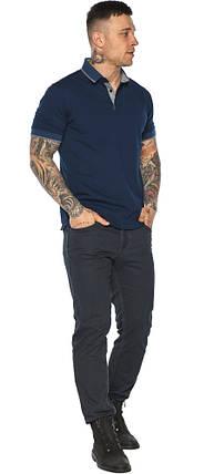 Синяя футболка поло мужская стильная модель 5104, фото 2