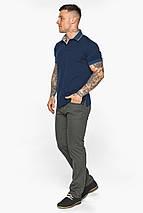 Синяя футболка поло мужская стильная модель 5104, фото 3
