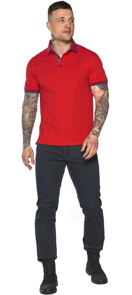 Красная мужская футболка поло удобная модель 5765