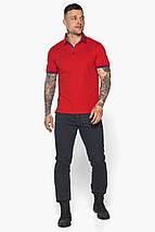 Червона чоловіча футболка поло зручна модель 5765, фото 2