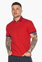 Красная мужская футболка поло удобная модель 5765, фото 3
