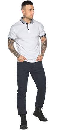 Модная белая футболка поло мужская модель 5425, фото 2