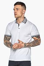 Модна біла футболка поло чоловіча модель 5425, фото 3
