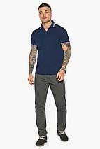 Трендова чоловіча синя футболка поло модель 5720, фото 2