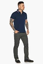 Трендовая мужская синяя футболка поло модель 5720, фото 2