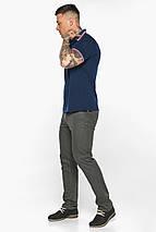 Трендовая мужская синяя футболка поло модель 5720, фото 3