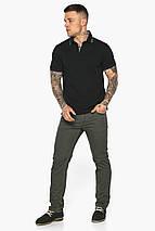 Чорна брендовий футболка поло чоловіча модель 5641, фото 2