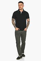 Чорна брендовий футболка поло чоловіча модель 5641, фото 3
