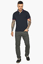 Оригінальна темно-синя футболка поло чоловіча модель 5324, фото 2
