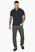 Оригинальная тёмно-синяя футболка поло мужская модель 5324, фото 2