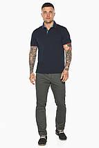 Оригинальная тёмно-синяя футболка поло мужская модель 5324, фото 3
