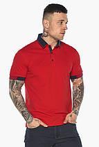 Комфортная футболка поло мужская красная модель 5960 (ОСТАЛСЯ ТОЛЬКО 54(XXL)), фото 3