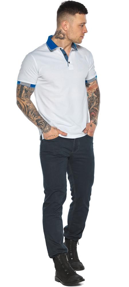 Зручна чоловіча біла футболка поло модель 5216