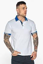 Мужская удобная белая футболка поло модель 5216, фото 3