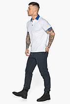Зручна чоловіча біла футболка поло модель 5216, фото 3
