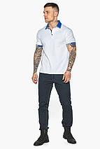 Зручна чоловіча біла футболка поло модель 5216 50 (L), фото 2