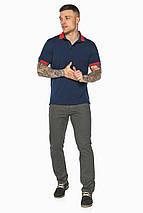Стильна футболка поло чоловіча синя модель 5815, фото 3