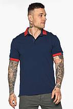 Стильная футболка поло мужская синяя модель 5815, фото 2
